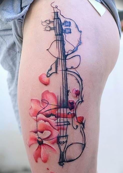 скрипка тату
