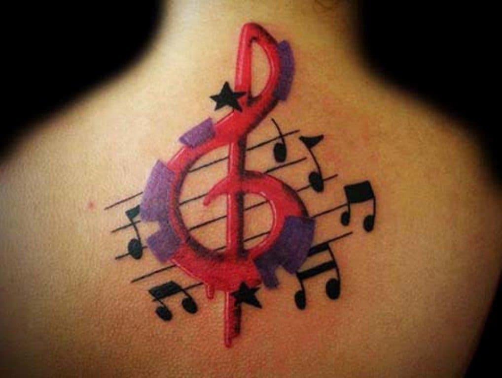 скрипичный ключ тату