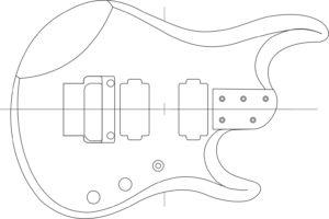 чертеж гитары