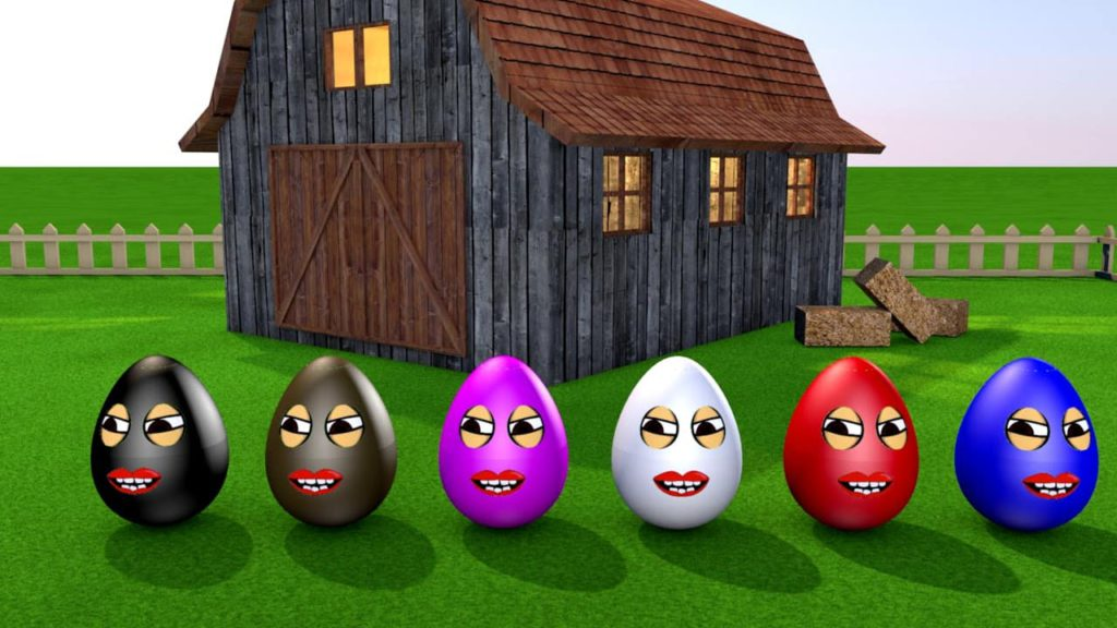 Learning colors colorful Eggs on a Farm - Miroshka TV