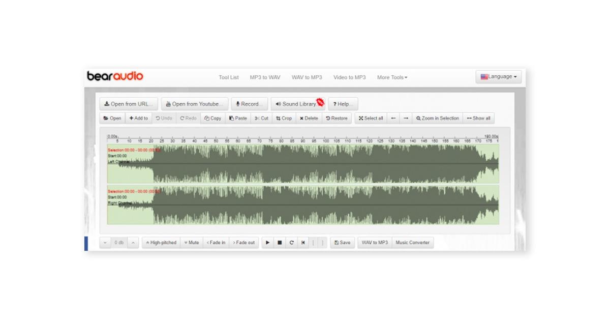 Аудиоредакторы онлайн