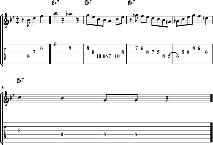 Grant Green Blues for Willarene Solo Lick Transcription