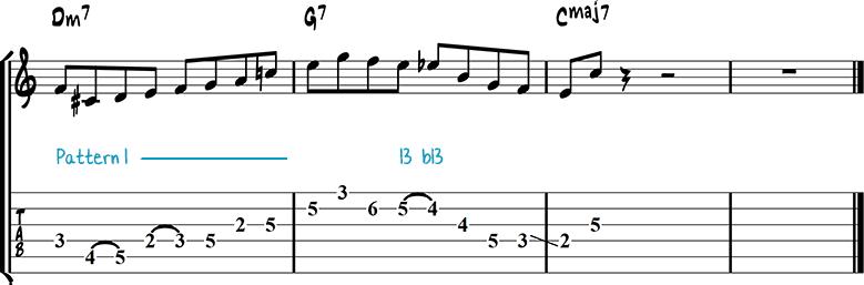 Джазовая фраза для гитары 11