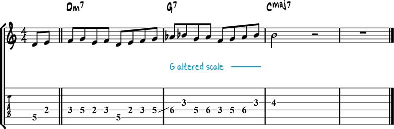 Джазовая фраза для гитары 20