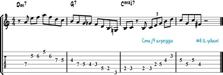 Джазовая фраза для гитары 19