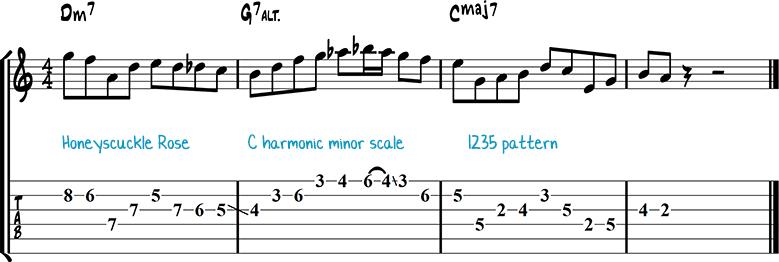 Джазовая фраза для гитары 18