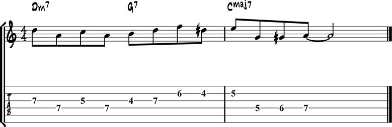 Джазовая фраза для гитары 29