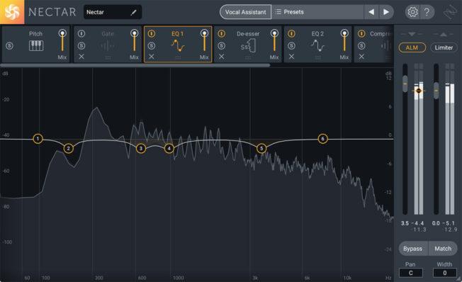 Подключаемый модуль для микширования вокала iZotope Nectar 3