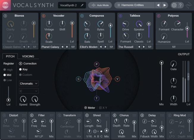 Подключаемый модуль для микширования вокала iZotope VocalSynth 2