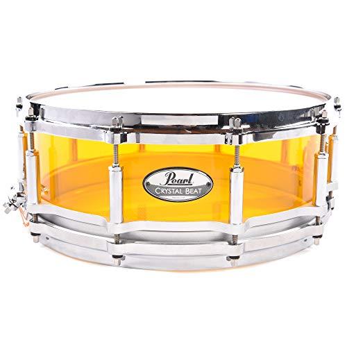 Pearl 5x14 Crystal Beat Акриловый свободный плавающий малый барабан Tangerine Glass