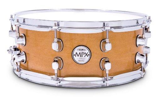 Mapex MPX цельнокленовый малый барабан размером 14 x 5,5 дюйма с естественной отделкой и хромированной фурнитурой